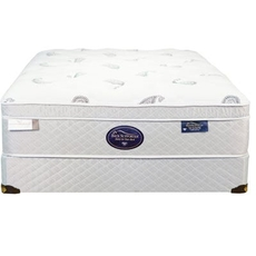 Full Spring Air Back Supporter Platinum Jade Euro Top 15.5 Inch Mattress