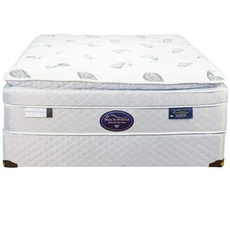 Queen Spring Air Back Supporter Platinum Sapphire Deluxe Euro Top 16.5 Inch Mattress