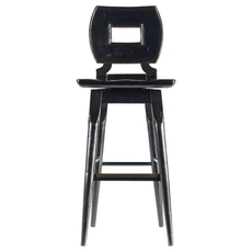 Stanley Artisan Wood Bar Stool in Ebony