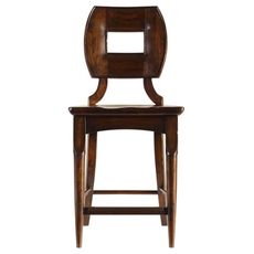 Stanley Artisan Wood Counter Stool in Barrel