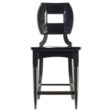 Stanley Artisan Wood Counter Stool in Ebony
