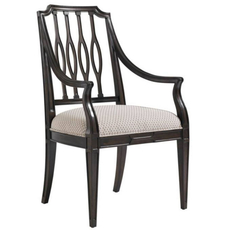 Stanley Charleston Regency Cooper Dining Arm Chair Set of 2 in Classic Mahogany