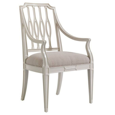 Stanley Charleston Regency Cooper Dining Arm Chair Set of 2 in Ropemakers White