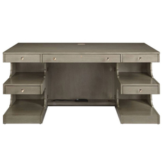 Stanley Coastal Living Oasis Cape Dutch Writing Desk in Grey Birch Finish