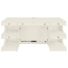 Stanley Coastal Living Oasis Cape Dutch Writing Desk in Saltbox White Finish