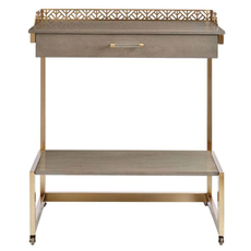 Stanley Coastal Living Oasis Catalina Bar Cart in Grey Birch Finish
