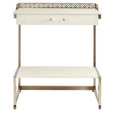 Stanley Coastal Living Oasis Catalina Bar Cart in Saltbox White Finish