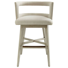 Stanley Coastal Living Oasis Crestwood Bar Stool in Oyster Finish