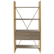 Stanley Coastal Living Oasis Harwell Bookcase in Grey Birch Finish