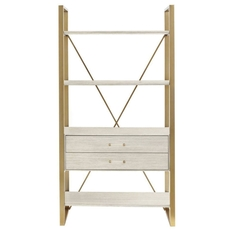 Stanley Coastal Living Oasis Harwell Bookcase in Oyster Finish