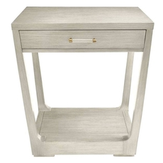 Stanley Coastal Living Oasis Meridian Square Lamp Table in Oyster Finish