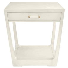 Stanley Coastal Living Oasis Meridian Square Lamp Table in Saltbox White Finish
