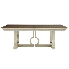 Stanley Coastal Living Oasis Moonrise Pedestal Dining Table in Oyster Finish