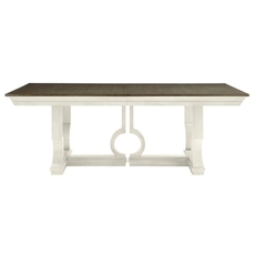 Stanley Coastal Living Oasis Moonrise Pedestal Dining Table in Saltbox White Finish
