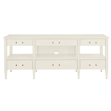 Stanley Coastal Living Oasis Mulholland Media Console in Saltbox White Finish
