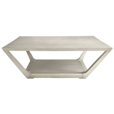Stanley Coastal Living Oasis Poseidon Cocktail Table in Oyster Finish