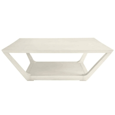 Stanley Coastal Living Oasis Poseidon Cocktail Table in Saltbox White Finish