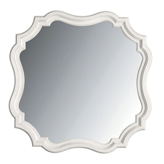 Stanley Coastal Living Retreat Piecrust Mirror in Saltbox White