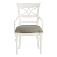 Stanley Coastal Living Retreat Sea Watch Arm Chair in Saltbox White Set of 2