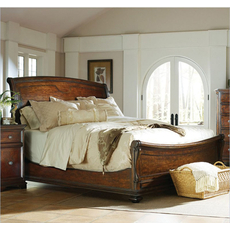 Stanley Continental Bedroom Barrel Queen Size Sleigh Bed