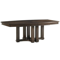 Stanley Crestaire Lola Double Pedestal Table in Porter