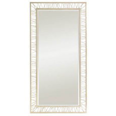 Stanley Crestaire Palm Canyon Floor Mirror in Argent