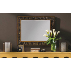 Stanley Crestaire Palm Canyon Rectangular Mirror in Trophy