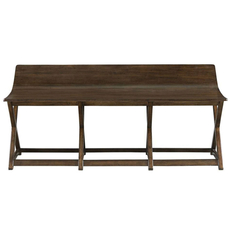Stanley Santa Clara Bed End Bench in Burnished Walnut Finish
