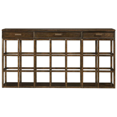 Stanley Santa Clara Console Table in Burnished Walnut Finish