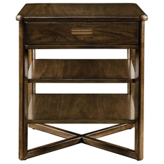 Stanley Santa Clara End Table in Burnished Walnut Finish