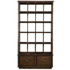 Stanley Santa Clara Lateral File Bookcase in Burnished Walnut Finish