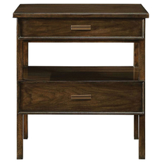 Stanley Santa Clara Nightstand in Burnished Walnut Finish