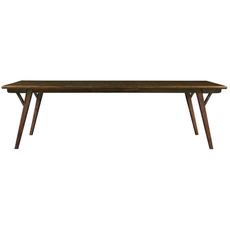 Stanley Santa Clara Rectangular Dining Table in Burnished Walnut Finish