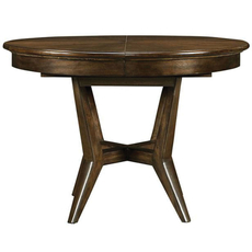 Stanley Santa Clara Round Dining Table in Burnished Walnut Finish