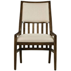 Stanley Santa Clara Upholstered Chair Set of 2 in Burnished Walnut Finish