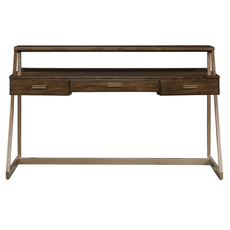Stanley Santa Clara Writing Desk in Burnished Walnut Finish