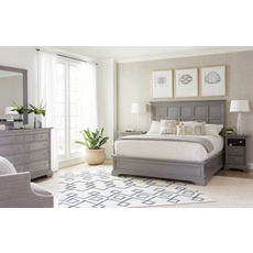 Stanley Transitional King Panel Bed in Estonian Grey Finish