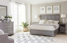 Stanley Transitional Queen Panel Bed in Estonian Grey Finish