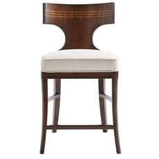 Stanley Villa Couture Dario Counter Stool in Mottled Walnut Finish