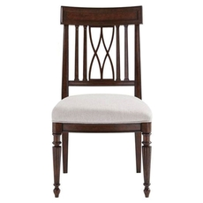 Stanley Villa Couture Lucca Side Chair Set of 2 in Mottled Walnut Finish
