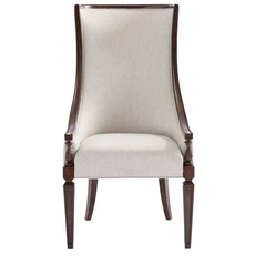 Stanley Villa Couture Matteo Host Chair in Mottled Walnut Finish