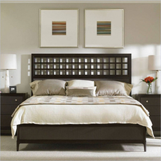 Stanley Wicker Park Queen Size Wood Panel Bed in Brownstone