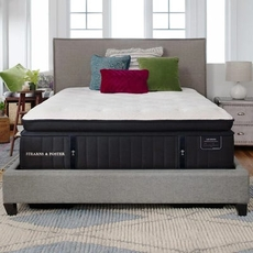King Stearns and Foster Lux Estate Cassatt Luxury Plush Euro Pillow Top 15 Inch Mattress + FREE $150 Visa Gift Card