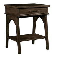 Stone & Leigh Chelsea Square Bedside Table in Raisin