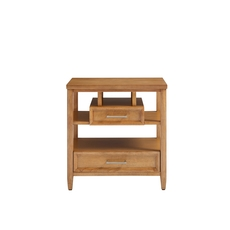 Stone & Leigh Chelsea Square Storage Nightstand in French Toast