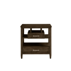 Stone & Leigh Chelsea Square Storage Nightstand in Raisin