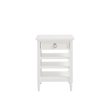 Stone & Leigh Clementine Court Bedside Storage Table in Frosting
