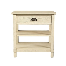Stone & Leigh Driftwood Park Bedside Table in Vanilla Oak