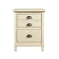 Stone & Leigh Driftwood Park Nightstand in Vanilla Oak