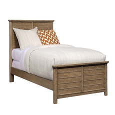 Stone & Leigh Driftwood Park Twin Panel Bed in Sunflower Seed